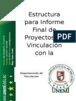 Informe Final Proyectos Vinculacion