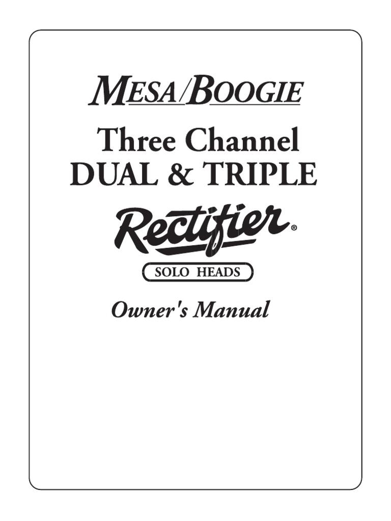 Manual Mesa/Boogie Dual/Triple Rectifier Versão Inglês