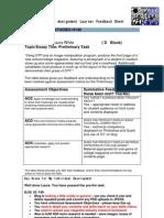 Media Studies Assignment Learner Feedback Sheet