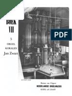 Zwart - 5 Orgel Koralen
