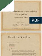 Solaris 10 Administration Topics Workshop 3