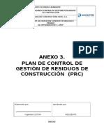 Anexo 3. Plan de Gestión de Residuos de La Construcción
