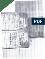 Contrato de Trabalho e RG Verso