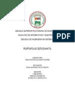 Plantilla - Portafolio Arq. Computadores