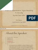 Solaris 10 Administration Topics Workshop 4- Security
