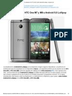 Cómo Actualizar Los HTC One M7 y M8 a Android 5.0 Lollipop - Tuexperto