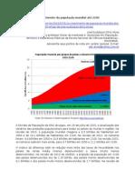 O crescimento da população mundial até 2100