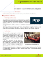 Organiser Une Conférence