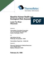 Fox River Baseline Risk Assessment