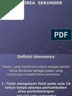 AMENOREA SEKUNDER PRESENTASI