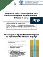 Amostragem de Água Subterrânea Em Poços de Monitoramento - Métodos de Purga