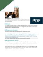What is Peer Education