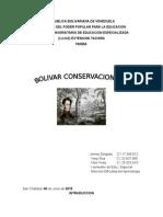 Trabajo de Bolivar Conservacionista