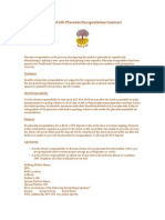 placenta encapsulation contract