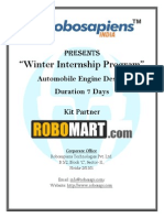 Winter Training in Automobile Engine Design 7 Days Fee INR 5900 With Free Robotic Kit and Training Certificate