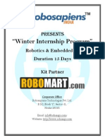 Winter Training in Robotics Embedded c 15 Day Fee INR 7900 With Free Robotic Kit and Training Certificate