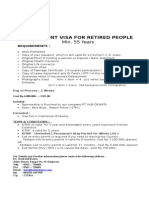 Retirement Visa for Retired People