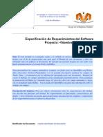 Especificacion de Requerimientos Del Software