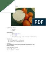 Orange Yogurt Beverage