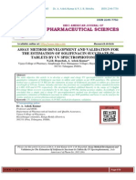 ASSAY METHOD DEVELOPMENT AND VALIDATION FOR THE ESTIMATION OF SOLIFENACIN SUCCINATE IN TABLETS BY UV SPECTROPHOTOMETRY N.J.R. Hepsebah, A. Ashok Kumar*