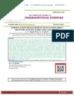 FORMULATION DEVELOPMENT OF FLOATING DRUG DELIVERY SYSTEM (FDDS) FOR LAFUTIDINE C.V.S.Raghu Kiran*, C.Gopinath