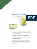 CA en Life Sciences Health Care Lean in Health Care