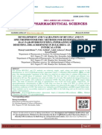 DEVELOPMENT AND VALIDATION OF RP-UFLC AND UV SPECTROPHOTOMETRIC METHODS FOR DETERMINATION OF 10-(4'-N-[(Β-HYDROXYETHYL) PIPERAZINE] BUTYL)-1, 3-DIMETHYL-10H-ACRIDINONE IN BULK DRUG AS A POTENT DNA INTERCALATOR Manoj Lamichhane*, N.K. Sathish, Ankit Acharya, Braj Kishor Yadav, Saroj Paudel