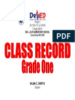 Class Record Front