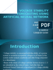Voltage Stability Forecasting Using Ann