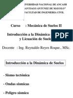 Mecánica Suelos II - Cap IV - V - Dinámica de Suelos y Licuación de Suelos