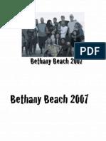 Bethany 2007 Draft 1