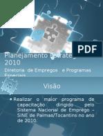 Planejamento Estratégico DEPE 2010