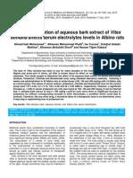 Bark Extract of Vitex Doniana on Serum Electrolytes FINAL PUBLISHED