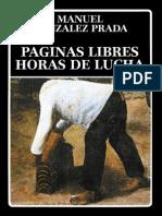 Manuel González Prada - Paginas libres, Horas de lucha