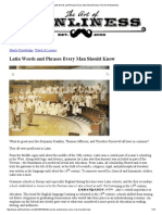 Latin Words and Phrases Every Man Should Know _ the Art of Manliness