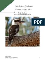 Australia 2014 Birding Trip Report