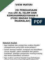 Kisi-kisi Penguasaan Materi Al Islam II
