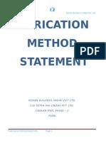 Fabrication Method Statment