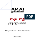 Akai Z4/Z8 and MPC 400 Sysex Specifications