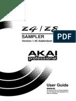 Akai Z4/Z8 Sampler Manual