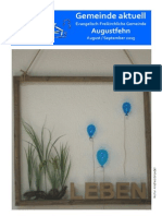 Gemeindebrief August und September