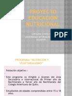 PROYECTO EDUCACION NUTRICIONAL