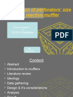 optimization of perforaters size & shape of a reactive muffler