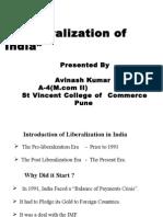 Presentation on Liberalisation