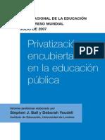 Privatización Encubierta de la educación publica