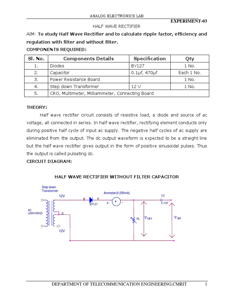 Rectifiersresonance Rectifier Electronic Filter Capacitors Inductors And Transformers In Circuits Analog