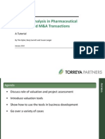 Pharmaceutical Valuation in Licensing Torreya