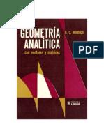 Geometria Analitica Con Vectores y Matrices