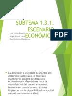 Escenario Económico Escenario Económico de la Sustentabilidadde La Sustentabilidad