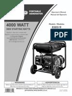Briggs & Stratton 030319-030320 4000W Generator